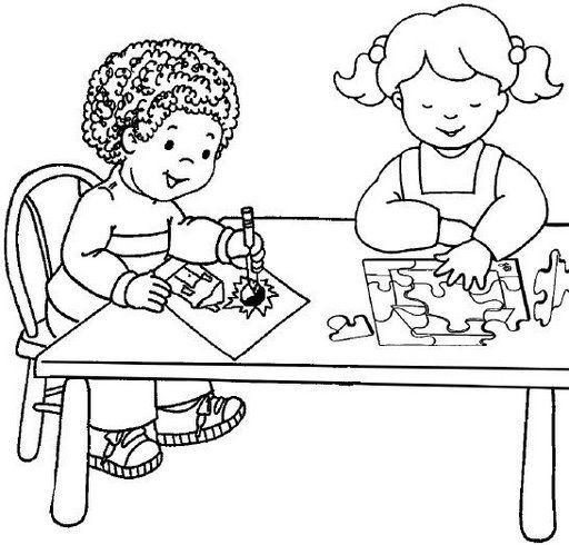 Escuela Para Colorear Para Niños Imagui