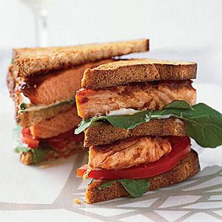 Salmon Club Sandwiches.