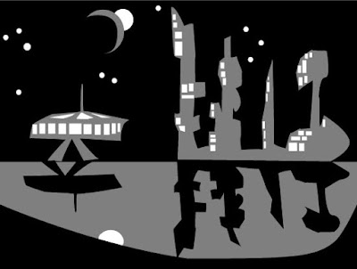 colonized planetary cityscape