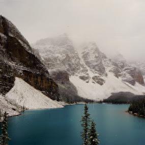 Moraine Lake by Chris Bertenshaw - Landscapes Mountains & Hills