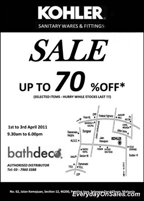 Selected Promotion To You !: 2011 Kohler Sale Up To 70%