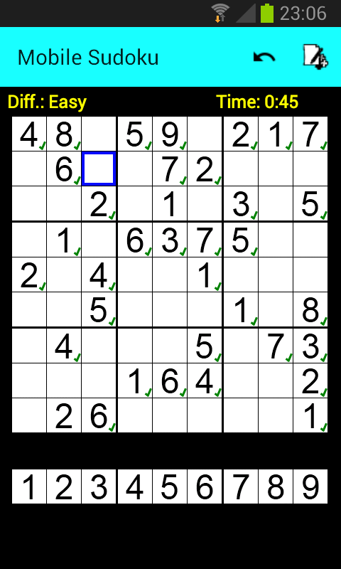 Mobile Sudoku (Free) - screenshot