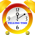 Telling Time – read a clock logo