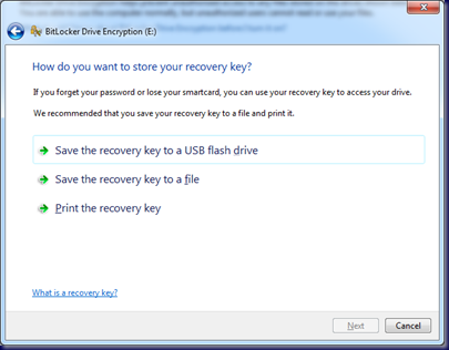 09-10-14 BitLocker To Go - 7 - Save Recovery Key