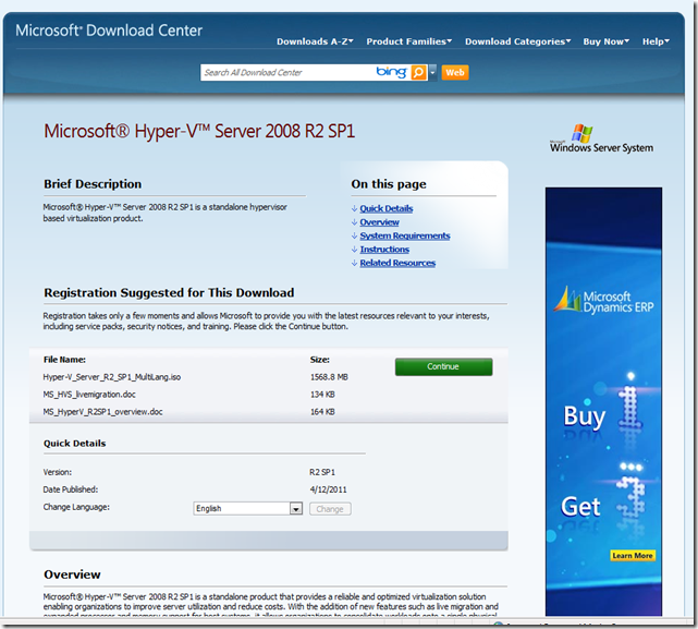 MPECS Inc  Blog: Microsoft Hyper-V Server 2008 R2 SP1 Available for