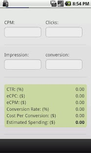 Ads CPM and CPC Calculator- screenshot thumbnail