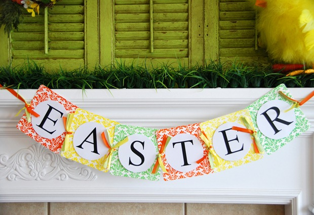 Easter Mantel, with the Epic Letterpress - Crap I've Made