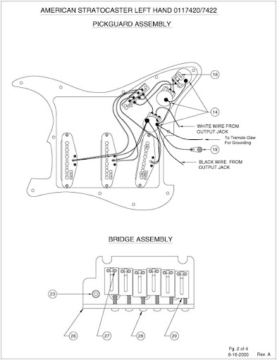 Left Handed Strat Wiring Diagram
