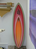 "Tim Stafford Custom Surfboards - Cornwall UK, 6'4"" bonzer EVO3 double wing pintail - ready for glossing"