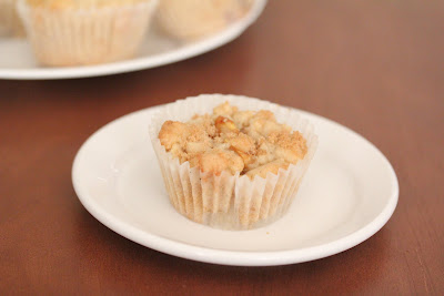 photo of one muffin on a plate