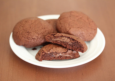 Nutella lava chocolate cookies