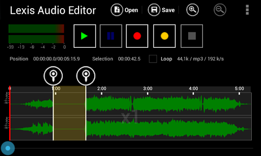 Lexis Audio Editor 1.0.70 screenshots 1