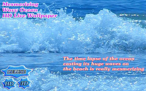 Mesmerizing Wavy Ocean 3D app (apk) free download for Android/PC/Windows screenshot