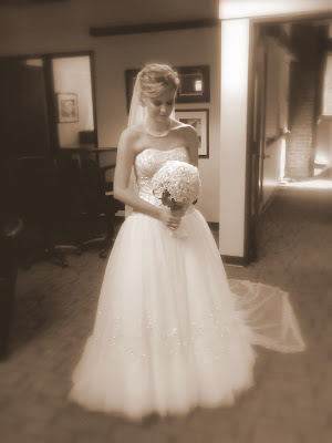 cell phone pic by father of the bride, just before he walked her down the aisle