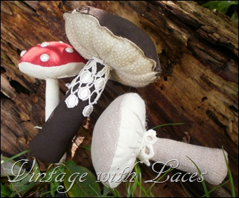 Fabric Mushrooms