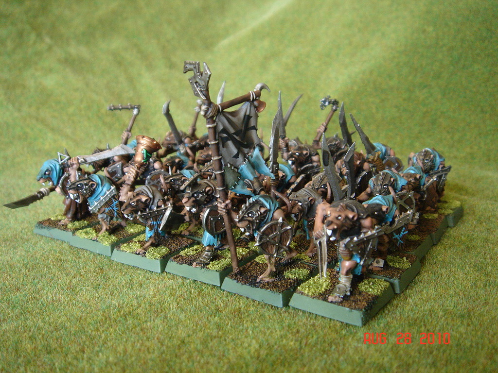 The Chattering Horde New Clanrat Unit Finished