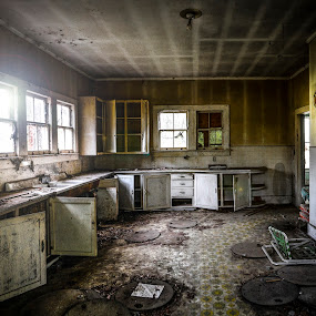 Old Kitchen by Michael Shaffer - Buildings & Architecture Decaying & Abandoned ( kithchen, creepy, old, desolate, spooky, house, room, abandoned,  )