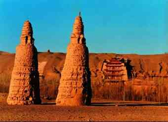 Historic sites in China's Gansu province