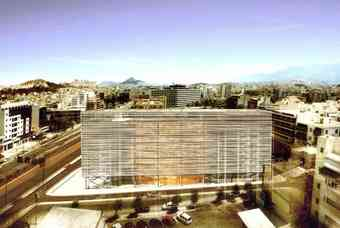 The Centre is housed in a striking, minimalist building of glass and white marble designed by the French firm Architecture-Studio. Photo: Onassis Cultural Centre-Athens.