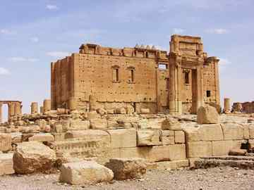 Palmyra's temple of Bel unique Oriental and Western mixture