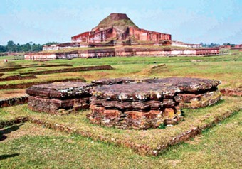 Ruins of Buddhist Vihara at Pahapur.