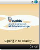 signing in to e Buddy