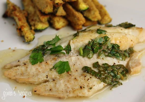 Classic sauce of butter, lemon and fresh parsley goes perfect with any fish. I try to eat fish twice a week. For a quick healthy dinner on a busy weeknight, this is simple and delicious.