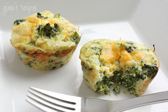 Broccoli and Cheese Mini Egg Omelets | Skinnytaste