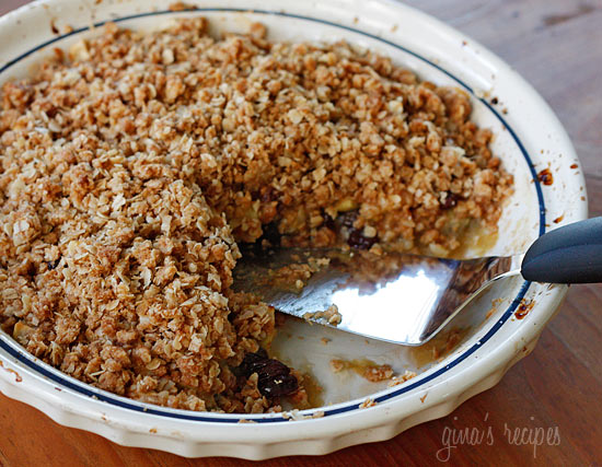 There's nothing quite like the smell of apples and cinnamon coming out of your oven and a beautiful fall evening. This cinnamon scented apple crisp is a perfect fall dessert, when apples are at their peak.