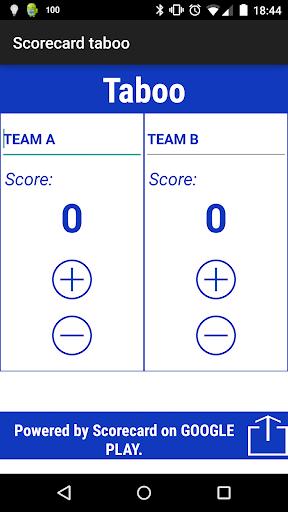 Scorecard Taboo