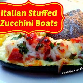 Italian Stuffed Zucchini Boats