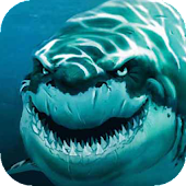 Toothy shark live wallpaper