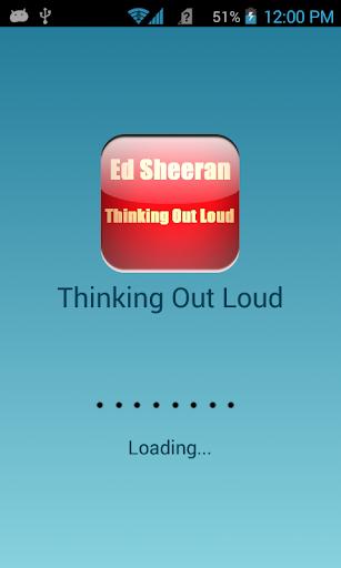 Ed Sheeran Thinking Lyric Free