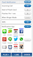 Screenshot of Flash Notification for All App