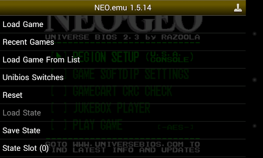 NEO.emu- screenshot thumbnail