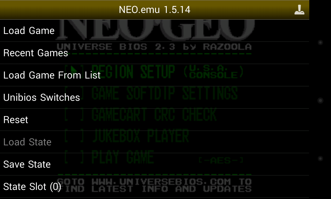 NEO.emu - screenshot