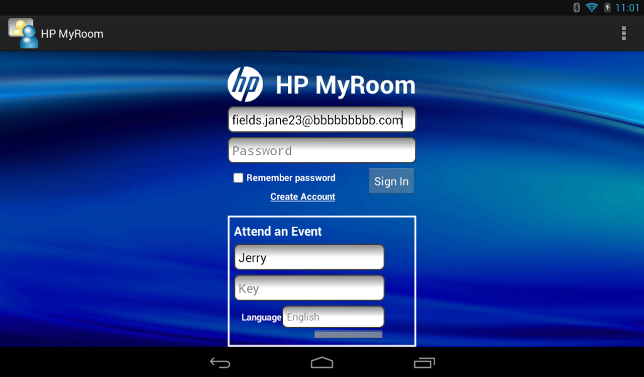 HP MyRoom - screenshot