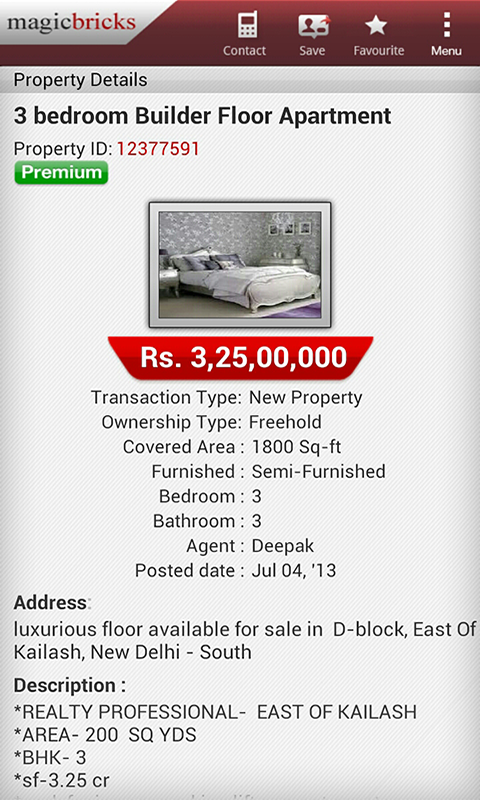 MagicBricks Property Search - screenshot