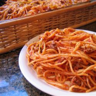 Basic Baked Spaghetti.