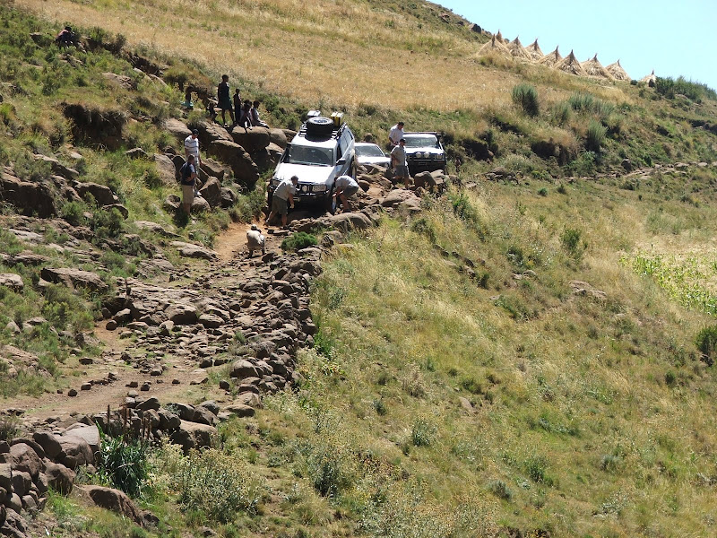 Rough terrain over the Lesotho Babboons pass