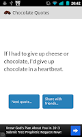 Screenshot of Chocolate quotes