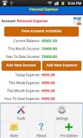 Screenshot of Expense Manager Plus Pro