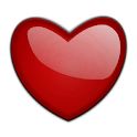 Heart beat in the club icon