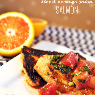 Blood Orange Salsa Over Baked Salmon