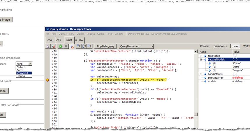 Chris O'Brien: SP2010 AJAX part 6: Debugging jQuery/JavaScript