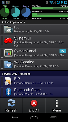 SystemPanel App / Task Manager  screenshots 1