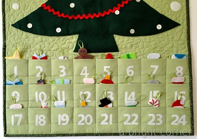 advent calendar with ornaments