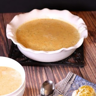 Roasted Garlic and Brie Soup
