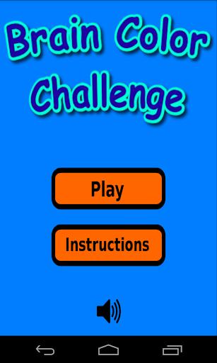 Brain Color Challenge