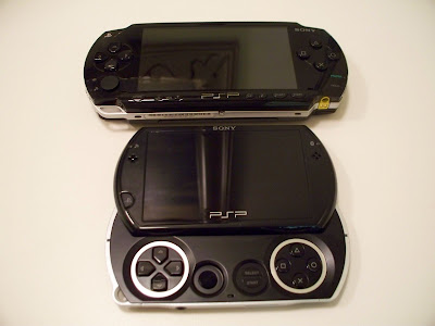 PSP Phat vs PSP Go (top)